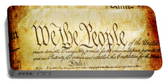 We The People Portable Battery Charger by Angelina Vick