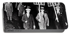 We Want Beer - Prohibition C. 1932 Portable Battery Charger