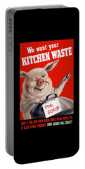 We Want Your Kitchen Waste Pig  Portable Battery Charger