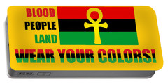 Wear Red Black And Green Portable Battery Charger