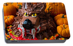 Wearwolf Cake With Pumpkins Portable Battery Charger by Garry Gay