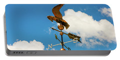 Weather Vane On Blue Sky Portable Battery Charger
