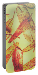 Weathered Autumn Leaves Portable Battery Charger