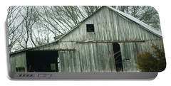 Weathered Barn In Winter Portable Battery Charger