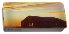 Weathered Barn Sunset Portable Battery Charger