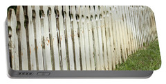 Weathered Fence Portable Battery Charger