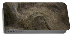 Portable Battery Charger featuring the photograph Weathered Tree Root by Mike Eingle