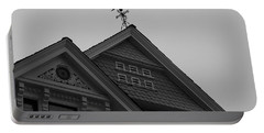Weathervane In Black And White Portable Battery Charger