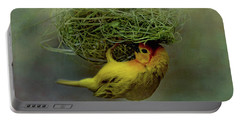 Weaver Bird Building A Nest Portable Battery Charger