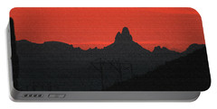 Weaver Needle Sunset Portable Battery Charger by Tom Janca