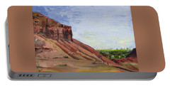Portable Battery Charger featuring the painting Weber Sandstone by Jane Autry