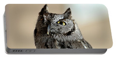 Wee Western Screech Owl Portable Battery Charger