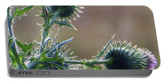 Weed Flower 5 Of 5 Portable Battery Charger by Tina M Wenger
