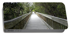 Portable Battery Charger featuring the photograph Weedon Island Boardwalk  by Chris Mercer