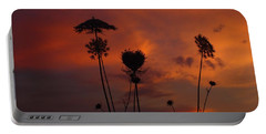Weeds In The Sunrise Portable Battery Charger