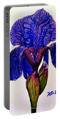 Weeping Iris Portable Battery Charger by Kimberlee Baxter