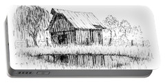 Weeping Willow And Barn Two Portable Battery Charger