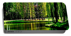 Weeping Willow Tree Reflective Moments Portable Battery Charger
