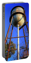 Portable Battery Charger featuring the photograph Weighty Water Cotton Mill  Water Tower Art by Reid Callaway