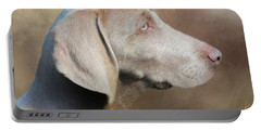 Weimaraner Adult - Painting Portable Battery Charger