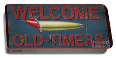 Welcome Fishing Sign Portable Battery Charger