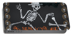 Welcome Ghoulish Guests Portable Battery Charger
