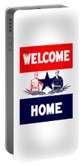 Vintage Welcome Home Military Sign Portable Battery Charger