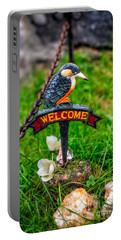 Welcome Sign Portable Battery Charger by Adrian Evans