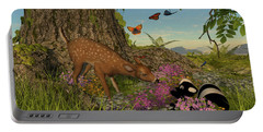 Portable Battery Charger featuring the digital art Welcome Spring by Methune Hively