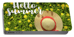 Portable Battery Charger featuring the photograph Welcome Summer by Teri Virbickis