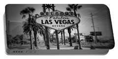Welcome To Las Vegas Series Holga Black And White Portable Battery Charger