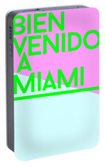 welcome to Miami Portable Battery Charger by Cortney Herron