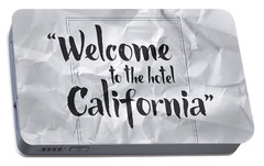 Welcome To The Hotel California Portable Battery Charger by Samuel Whitton