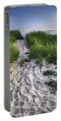 Wellfleet Beach Path Portable Battery Charger by Tammy Wetzel