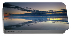 Portable Battery Charger featuring the photograph Wells Beach Reflections by Rick Berk