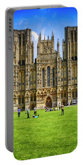 Wells Cathedral In Somerset, Uk Portable Battery Charger