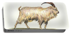 Welsh Long Hair Mountain Goat Portable Battery Charger