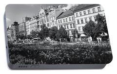 Portable Battery Charger featuring the photograph Wenceslas Square In Prague by Jenny Rainbow