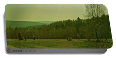 Portable Battery Charger featuring the photograph Wendover Woods by Anne Kotan