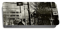 Portable Battery Charger featuring the photograph West 7th Street by Susan Stone