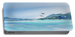 Portable Battery Charger featuring the painting West Coast  Isle Of Pines, New Caledonia by Dorothy Darden