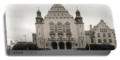 West Facade Of Adam Mickiewicz University Poznan Poland Portable Battery Charger