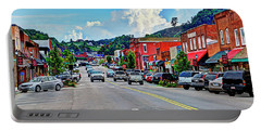West Jefferson Streetscape Portable Battery Charger by Dale R Carlson