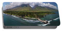 West Maui Mountains  Portable Battery Charger by James Roemmling