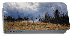 Portable Battery Charger featuring the photograph West Thumb Geyser Basin   by Lars Lentz