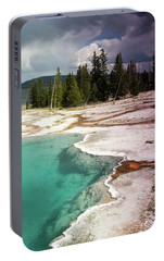 Portable Battery Charger featuring the photograph West Thumb Geyser Pool by Dawn Romine
