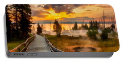 West Thumb Sunrise Portable Battery Charger