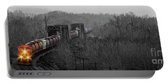 Portable Battery Charger featuring the photograph Westbound Grain by Brad Allen Fine Art