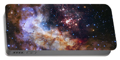 Westerlund 2 - Hubble 25th Anniversary Image Portable Battery Charger by Adam Romanowicz