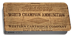 Western Ammunition Box Portable Battery Charger by American West Legend By Olivier Le Queinec